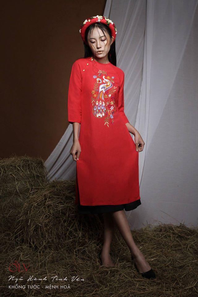 Những thiết kế áo dài cách tân thuần Việt giá dưới 1.5 triệu đẹp lung linh cho nàng diện Tết - Ảnh 16.