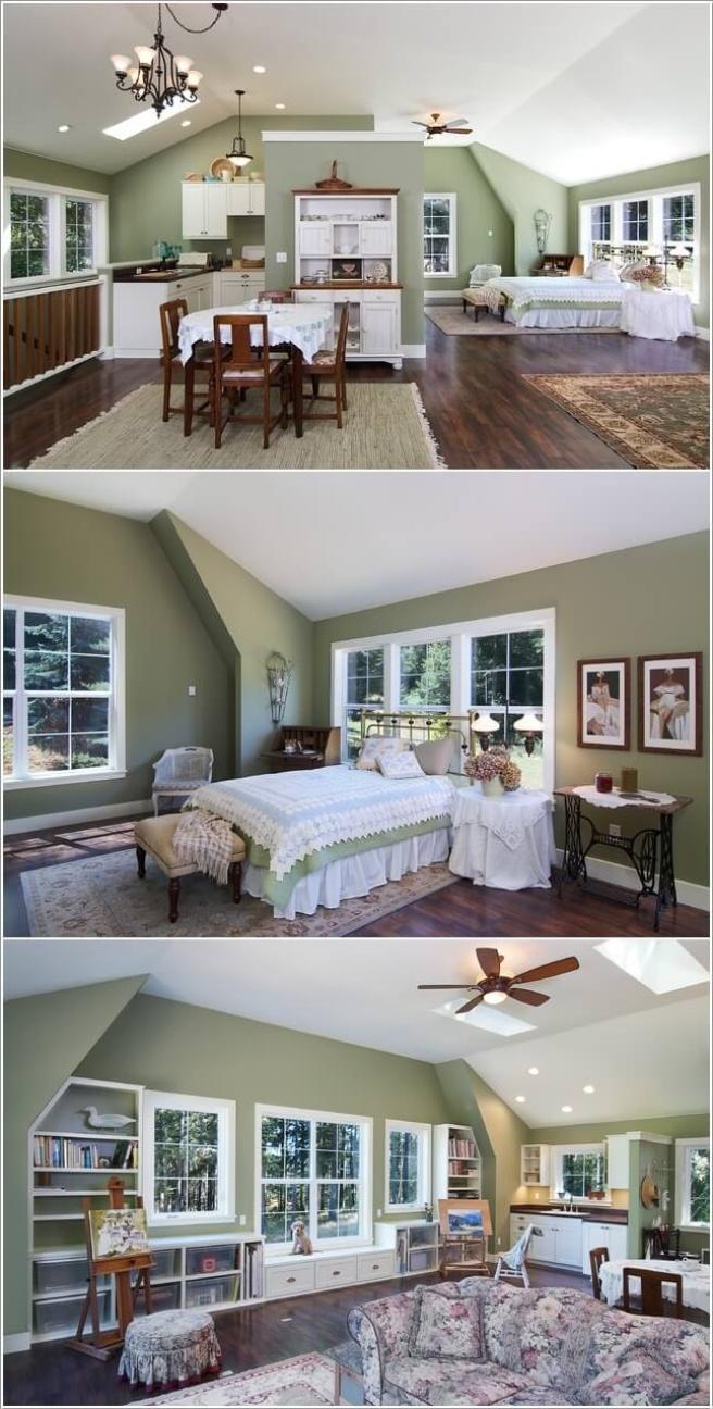 Nếu bạn đang sống trong căn hộ áp mái, đó là cơ hội tuyệt vời để trang trí thành không gian cao cấp - Ảnh 5.