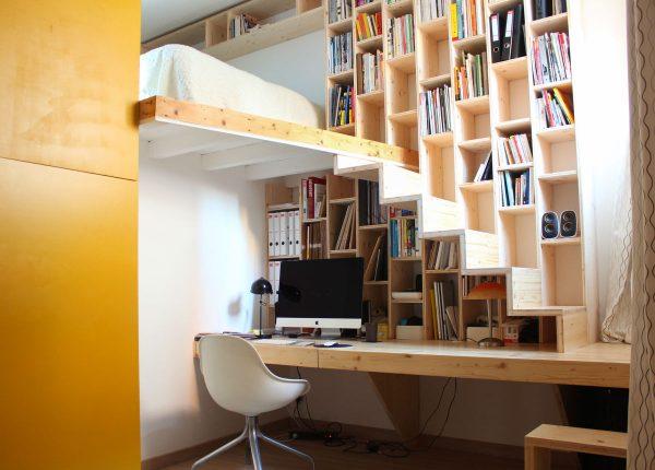 20 thiết kế giá sách kết hợp với cầu thang vô cùng đẹp mắt - Ảnh 6.