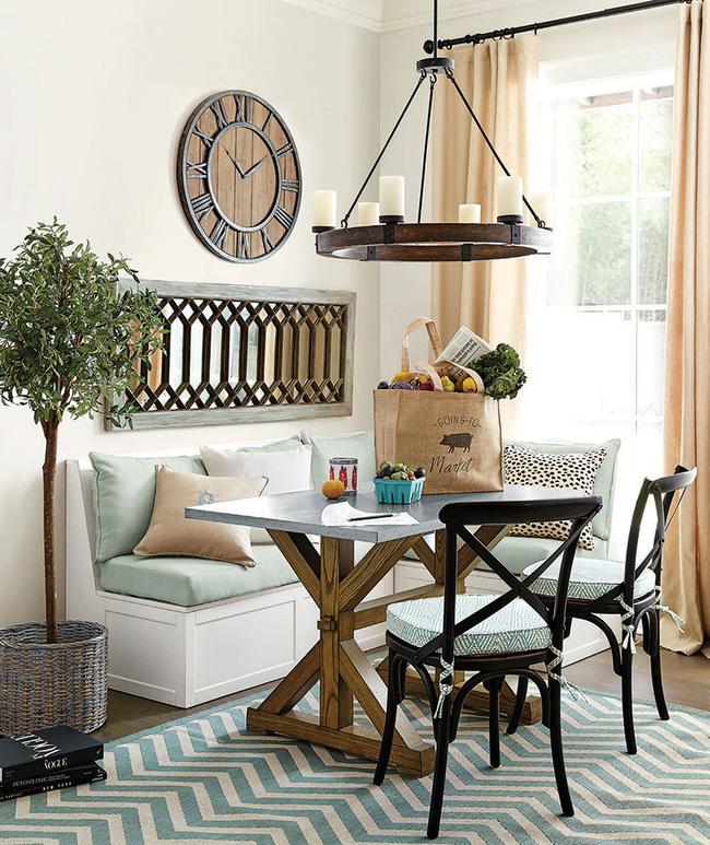 29 mẫu bàn ghế ăn khiến phòng ăn nhà bạn từ nhỏ hóa rộng thênh thang - Ảnh 6.