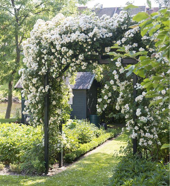 Chiêm ngưỡng vẻ đẹp lộng lẫy của những chiếc cổng nhà tràn ngập hoa - Ảnh 6.
