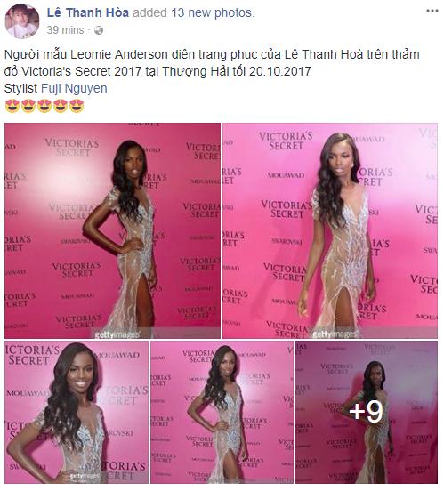 Chân dài Victorias Secret diện đầm của NTK Lê Thanh Hòa lên thảm hồng danh tiếng - Ảnh 6.