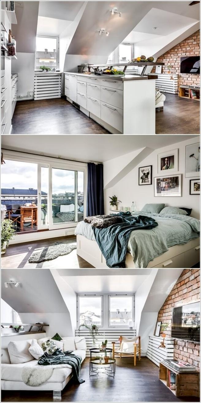Nếu bạn đang sống trong căn hộ áp mái, đó là cơ hội tuyệt vời để trang trí thành không gian cao cấp - Ảnh 7.