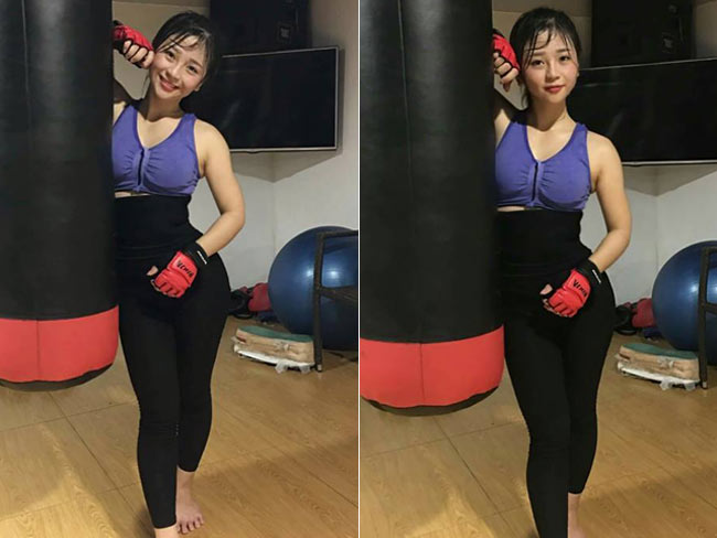 Dù chiều cao khá khiêm tốn nhưng với số đo ba vòng 87 - 60 - 90, cô nàng sở hữu body ấn tượng.
