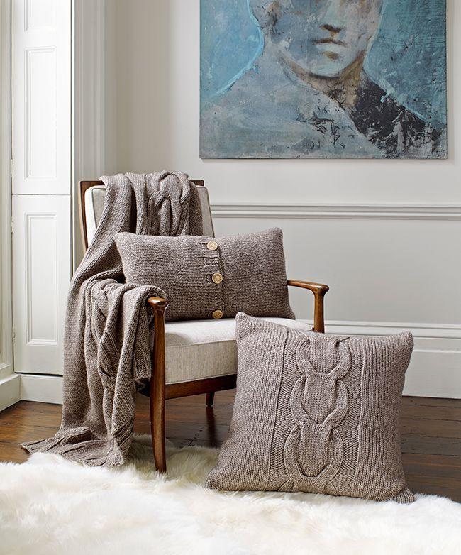 Trang trí phòng khách với gối tựa lưng bằng len siêu đẹp - Ảnh 7.
