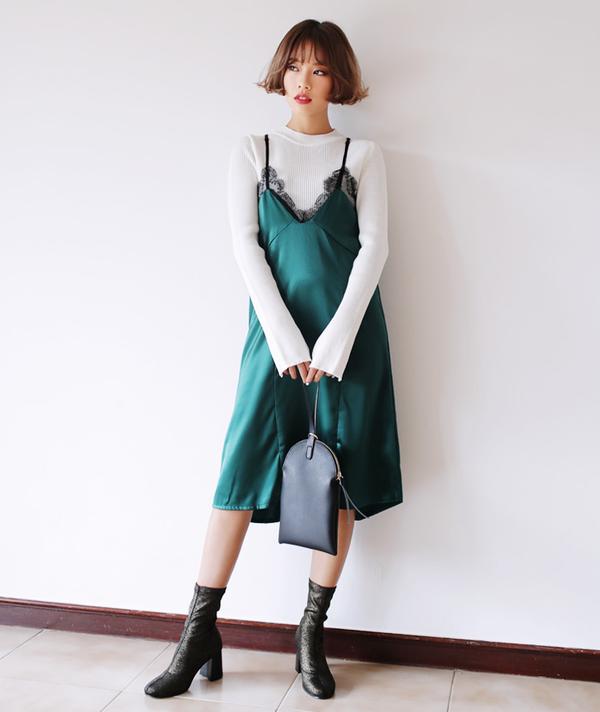 Tận dụng váy hè mà vẫn diện ấm áp trong mùa đông với những gợi ý sau - Ảnh 13.