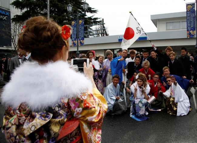 Các cô gái Nhật Bản xinh đẹp trong lễ trưởng thành - Ảnh 8.