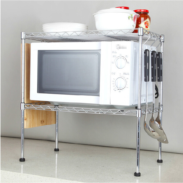 13 mẫu giá kệ để lò vi sóng tiện dụng cho nhà bếp nhỏ - Ảnh 8.