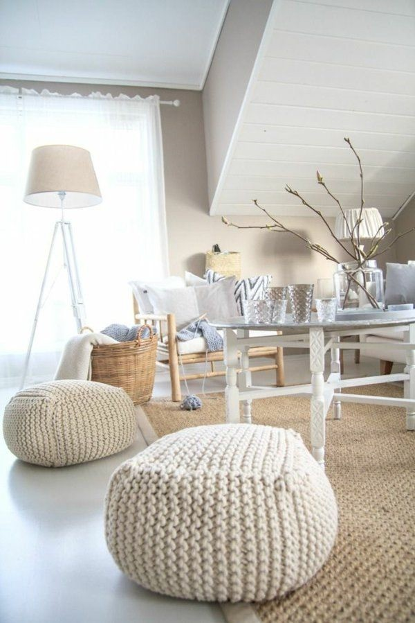 Trang trí phòng khách với gối tựa lưng bằng len siêu đẹp - Ảnh 8.