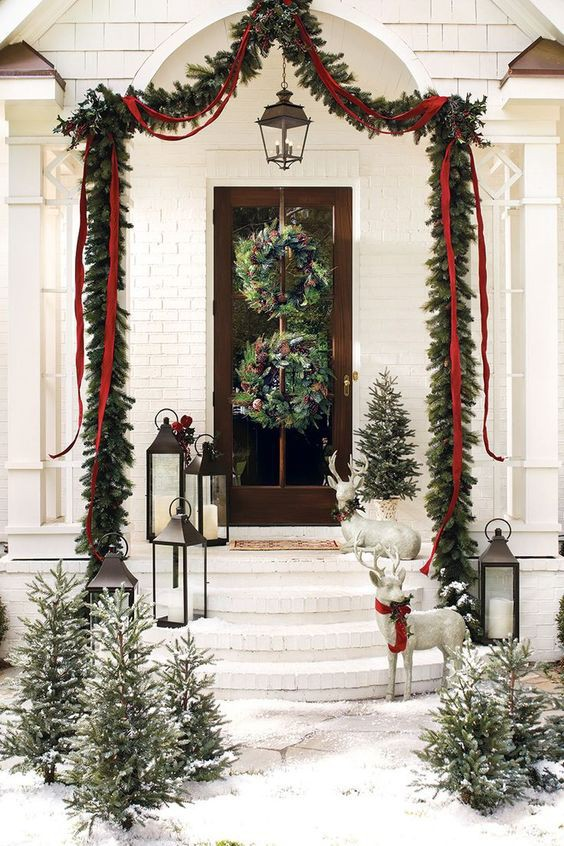 Những ý tưởng trang trí mặt tiền cho ngôi nhà đón Noel - Ảnh 8.