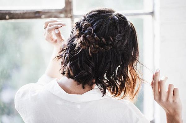 Làm điệu với 3 kiểu tết cực đơn giản dành cho các nàng tóc ngắn - Ảnh 9.