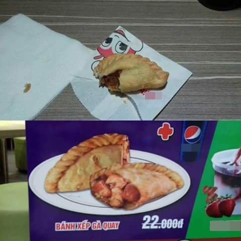 Tin vào quảng cáo đồ ăn cũng được, nhưng đôi khi đừng kỳ vọng quá để rồi phát khóc thế này - Ảnh 4.