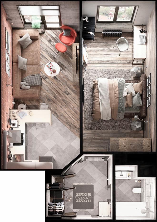 Hai căn hộ 35m² với phong cách trang trí công nghiệp nhưng lãng mạn đến khó tin - Ảnh 9.