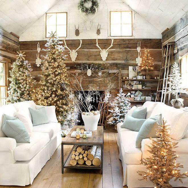 Những kiểu trang trí phòng khách đậm chất Giáng sinh nhìn đã thấy an lành - Ảnh 10.