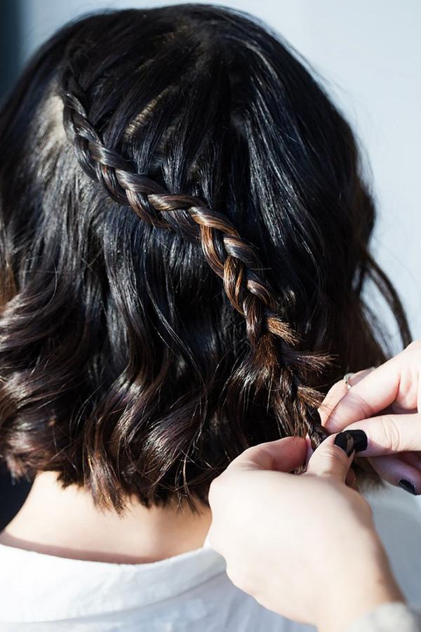 Làm điệu với 3 kiểu tết cực đơn giản dành cho các nàng tóc ngắn - Ảnh 10.