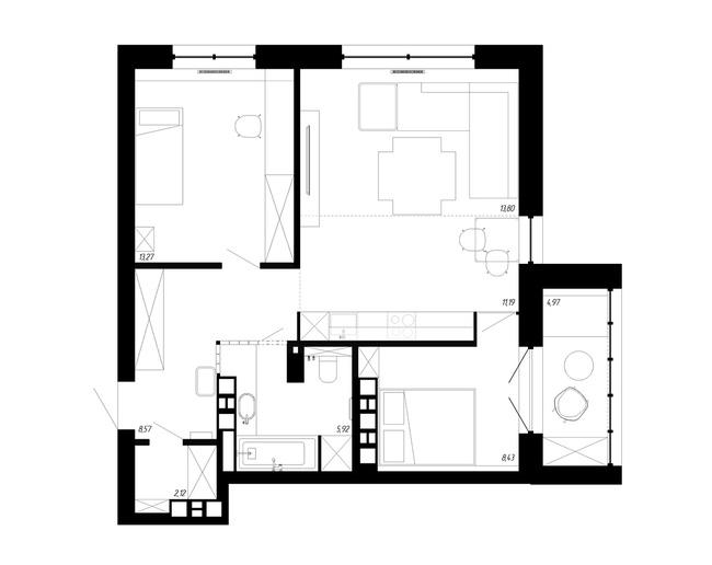Căn hộ 62m² đẹp đến mức dù khó tính đến đâu cũng chẳng thể chê được điểm nào - Ảnh 22.
