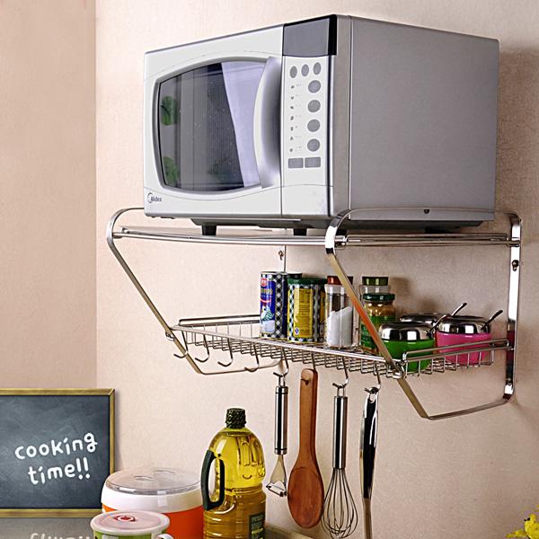 13 mẫu giá kệ để lò vi sóng tiện dụng cho nhà bếp nhỏ - Ảnh 10.