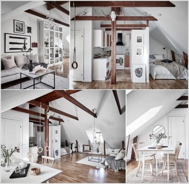 Nếu bạn đang sống trong căn hộ áp mái, đó là cơ hội tuyệt vời để trang trí thành không gian cao cấp - Ảnh 10.
