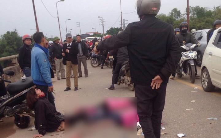 Thái Nguyên: Mẹ khóc ngất chứng kiến 2 con gái bị xe ô tô chở công nhân cán qua người khiến tử vong