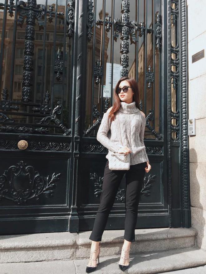 Đông này muốn diện áo len thật thời thượng, hãy học tập từ street style của các người đẹp Vbiz - Ảnh 5.