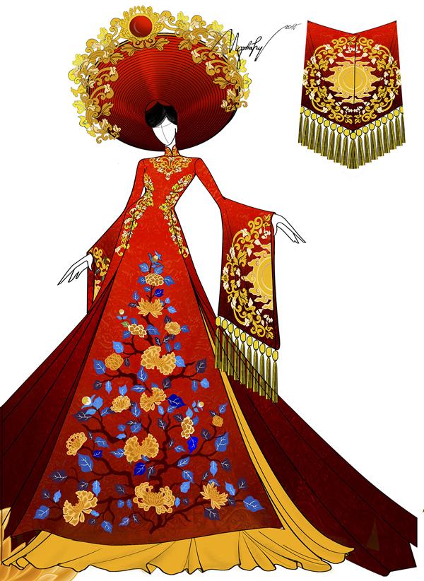 Á hậu Huyền My hé lộ bộ quốc phục nặng 30kg sẽ trình diễn tại Miss Grand International 2017 - Ảnh 3.