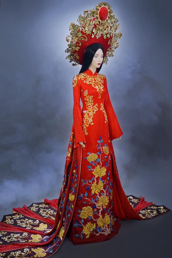 Á hậu Huyền My hé lộ bộ quốc phục nặng 30kg sẽ trình diễn tại Miss Grand International 2017 - Ảnh 5.