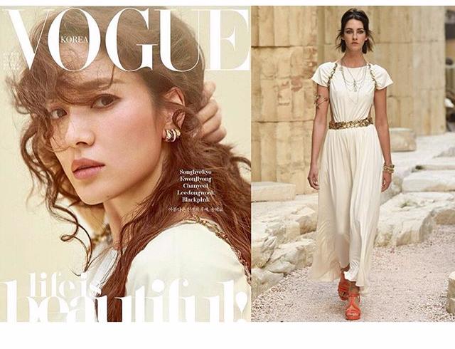 Có gì hot ở 2 chiếc váy mà Song Hye Kyo chọn mặc để chụp cho tạp chí Vouge Korea - Ảnh 4.