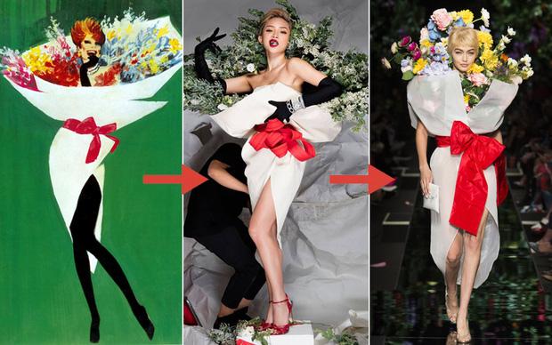 Ngang nhiên mượn thiết kế của Moschino, nhưng bó hoa Tiêu Châu Như Quỳnh lại kém sắc trầm trọng - Ảnh 10.