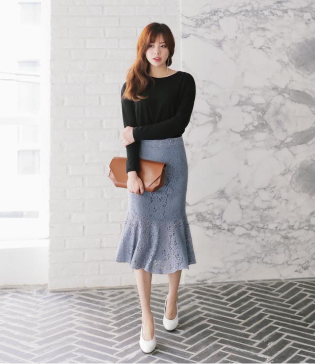Nếu đã chán với váy ôm cơ bản, các nàng công sở hãy sắm cho mình kiểu chân váy đuôi cá - Ảnh 8.