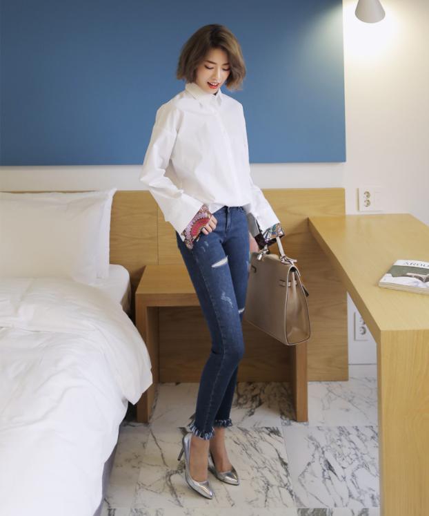 Điểm qua một vài cách diện đồ hay ho với cặp đôi kinh điển: quần jeans và sơmi - Ảnh 4.