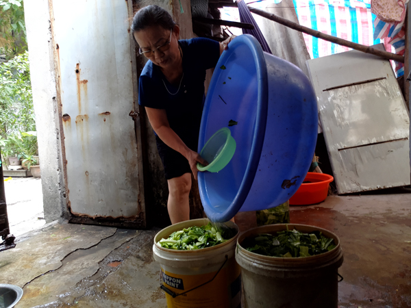 Chùm ảnh: Người dân sống cạnh ao tù, kênh rạch lo lắng khi sốt xuất huyết tăng nhanh ở Hà Nội - Ảnh 10.