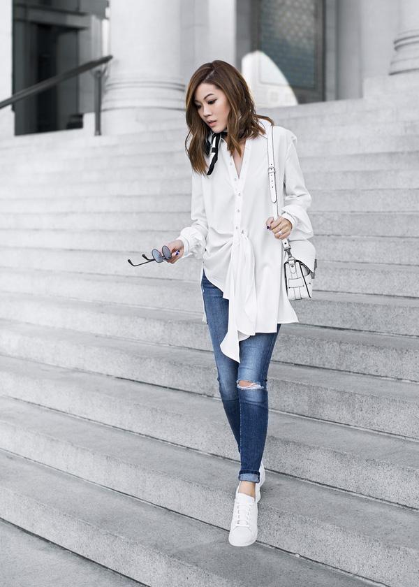 Đến quần jeans dáng sơ bản cũng có kiểu chuẩn xu hướng, kiểu không - Ảnh 2.