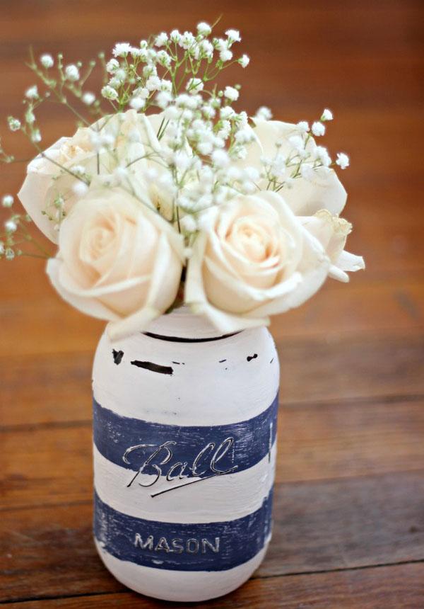 5 cách tái chế chai lọ thành bình cắm hoa đẹp siêu đơn giản - Ảnh 11.
