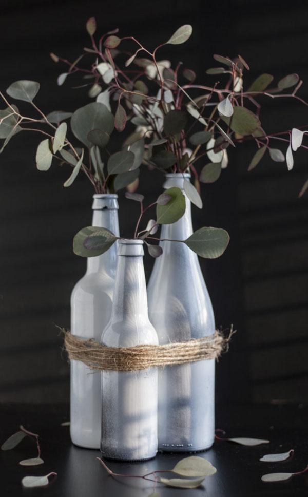 5 cách tái chế chai lọ thành bình cắm hoa đẹp siêu đơn giản - Ảnh 5.