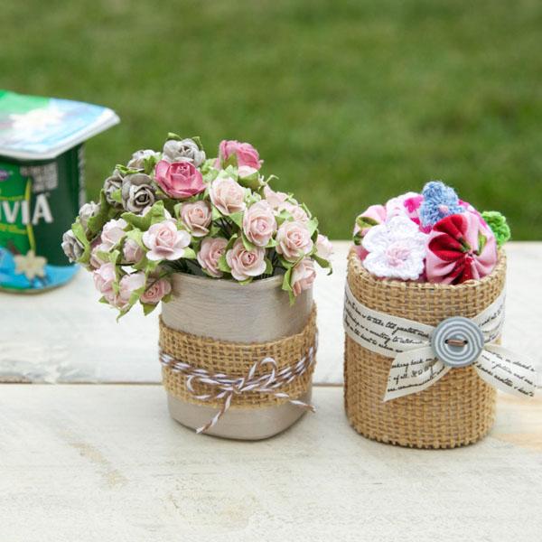5 cách tái chế chai lọ thành bình cắm hoa đẹp siêu đơn giản - Ảnh 7.
