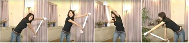 CẢNH BÁO! Ăn Tết xong béo lên thì hãy nhớ bài tập chiếc khăn này để lấy lại bụng phẳng nhé!