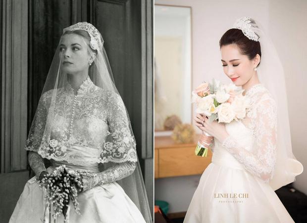 1 trong 3 mẫu váy cưới của Thu Thảo được lấy cảm hứng từ mẫu váy của công nương Grace Kelly - Ảnh 6.