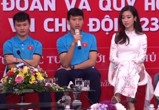Hoa hậu Đỗ Mỹ Linh lần đầu lên tiếng sau khi âm thầm xuất hiện ở Thường Châu để cổ vũ cho U23 Việt Nam - Ảnh 1.