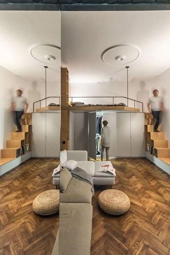 Căn hộ chung cư 35 m2 có gác lửng khiến nhiều người thích mê - Ảnh 4.