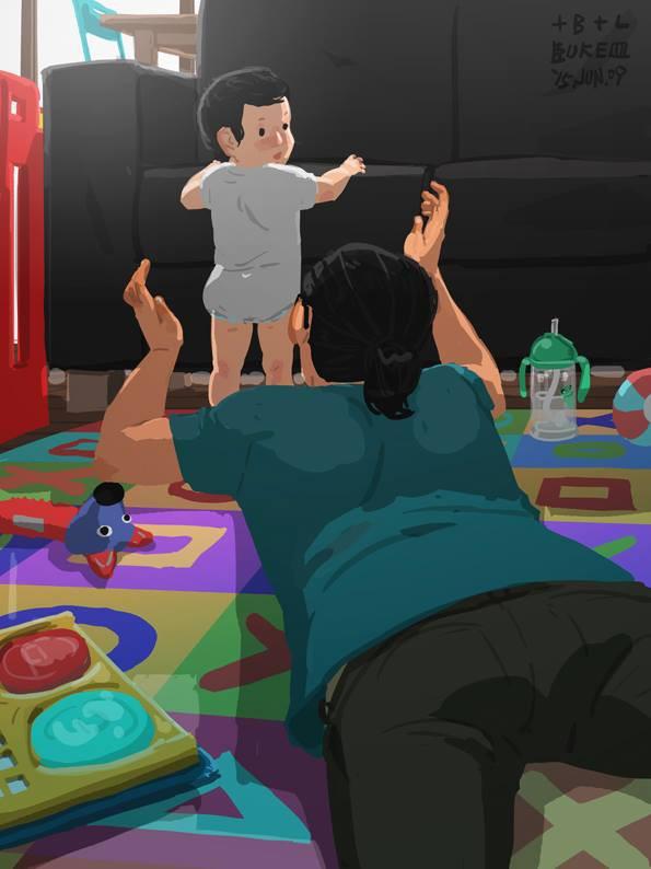 Ngắm khoảnh khắc bố chăm con ngọt ngào đến tan chảy, các mẹ mới nhận ra các bố cũng khéo lắm chứ! - Ảnh 42.