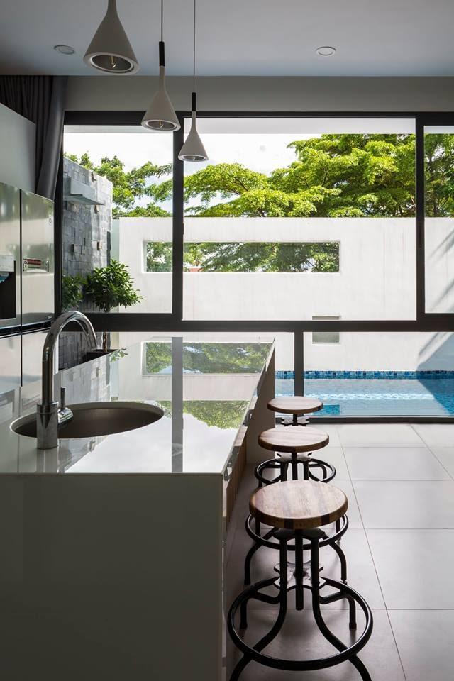 Ngôi nhà có tầm nhìn thẳng ra sông Sài Gòn với thiết kế mộc mạc nhưng sự tiện nghi thì không chê vào đâu được - Ảnh 5.