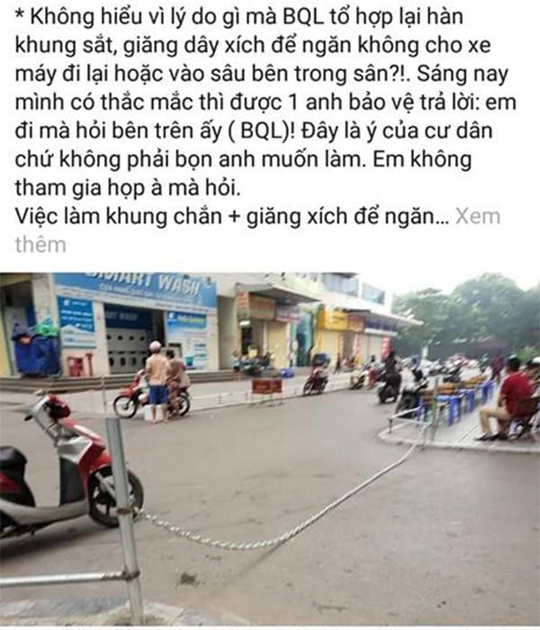 Hà Nội: Cư dân HH Linh Đàm sôi sục sau vụ tai nạn do xuất hiện dây xích chắn ngang đường - Ảnh 8.