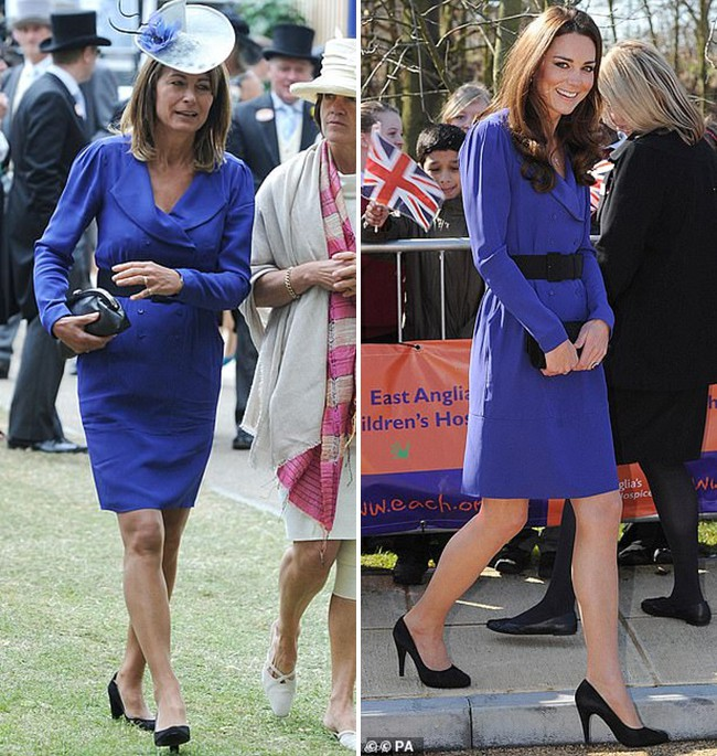 Các thánh soi đã ra tay và tia được Công nương Kate Middleton cùng mẹ đẻ rất hay mặc đồ giống nhau - Ảnh 2.