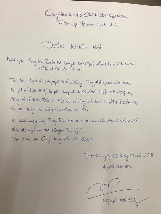 Vụ nhạc sỹ Nguyễn Văn Chung khiếu nại phim Quỳnh Búp Bê vi phạm bản quyền: VTV đã có động thái trả lời - Ảnh 2.