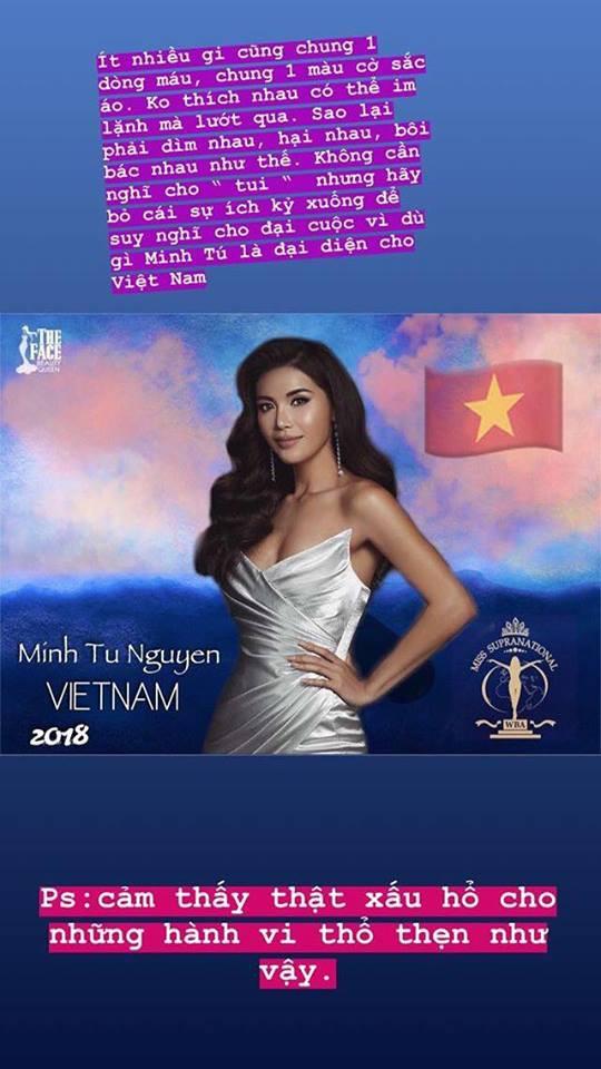 Minh Tú bức xúc khi bị bịa đặt, nói xấu trước thềm cuộc thi Hoa hậu Siêu quốc gia Việt Nam 2018 - Ảnh 1.