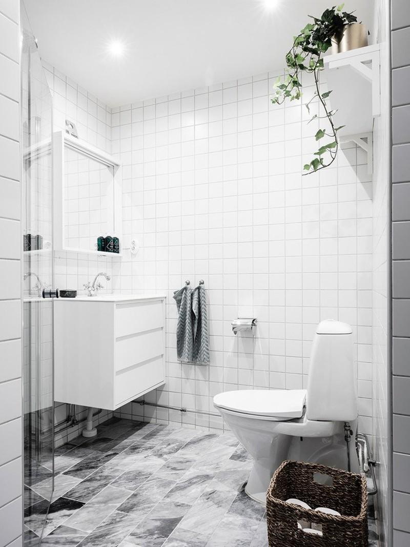 Kết quả hình ảnh cho Scandinavian phòng tắm