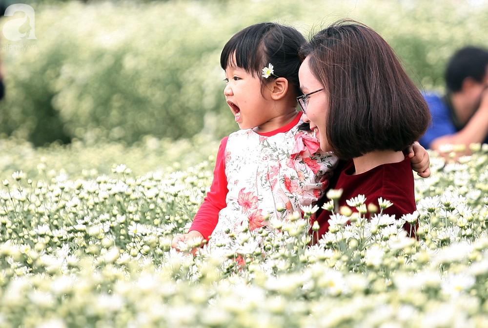 Phụ nữ, trẻ em chen nhau tạo dáng chụp ảnh kín đặc vườn cúc họa mi Nhật Tân - Ảnh 12.