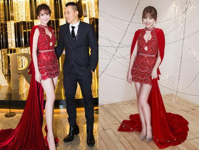 Như một thói quen, Hari Won cứ 10 lần mặc váy đỏ là 9 lần đụng hàng - Ảnh 5.