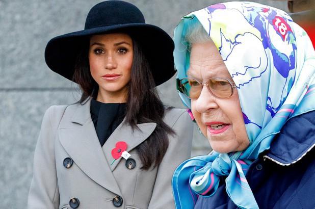 Nữ hoàng Elizabeth không ít lần phật ý vì style của Meghan Markle và còn có phản ứng khó đỡ với chiếc váy cưới của cô - Ảnh 1.