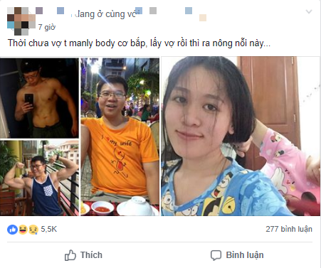 Chẳng còn cơ bụng 6 múi, hình ảnh ông chồng tăng cân chóng mặt sau vài tháng lấy vợ cho thấy chị em mát tay thế nào - Ảnh 1.